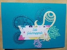 Stampin Up Paisleys and Poeies