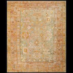 Turkish Decorative - Oushak Circa: 1900 Color: Green Origin: Turkey #antique #turkish #rug #nyc #radr #rahmanan #21528