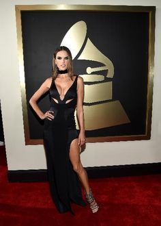 Model Alessandra Ambrosio attends The 58th GRAMMY Awards at Staples Center on February 15, 2016 in Los Angeles, California.