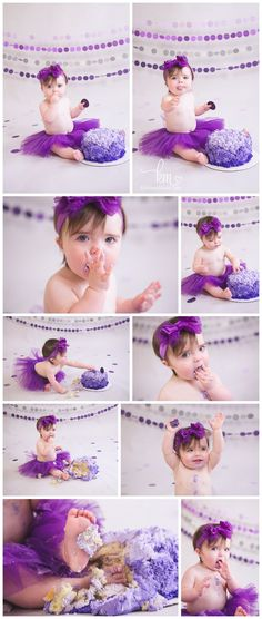Purple Ombre Cake Smash Photography