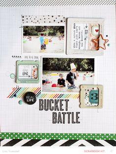 #papercraft #scrapbook #layout. bucket battle by gluestickgirl at @studio_calico