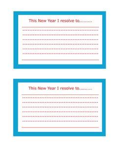 Resolution Printables