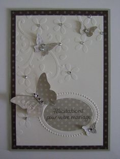 Stampin up carte mariage papillon