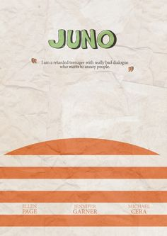 Juno (2007) ~ Minimal Movie Poster by Stefano Reves #amusementphile