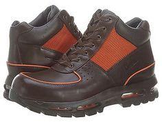 low priced f8616 94788 ... nike air max goadome ii f l mens 307889 281 brown orange acg boots ...
