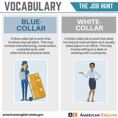 Vocabulary: The Job Hunt - Blue-Collar / White-Collar