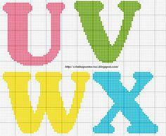 Alfabeto U - X letras