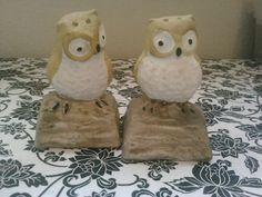 vintage owl salt and pepper shakers <3