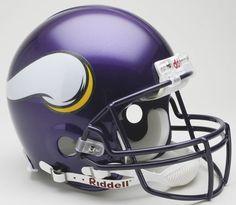 Minnesota Vikings 2006 to 2012 Authentic Full Size Throwback Helmet