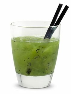 Kiwi Crush2 oz. Blue Ice Organic Wheat Vodka1/2 organic kiwi, peeled1/2 organic lime, cut into quarters1 tsp. organic sugarMuddle fruit and sugar in a mixing glass until well crushed and juicy. Add ice and vodka and shake vigorously. Pour all contents into bucket glass and drink with straws.Read more:Summer Drink Recipes - Summer Cocktail Recipes - Cocktail Recipes - Marie Claire