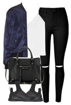 """""""Untitled #4139"""" by london-wanderlust ❤ liked on Polyvore featuring The Kooples, Jil Sander Navy, Balenciaga and Puma"""