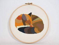 Modern Fox Cross Stitch Pattern Modern fox by SwitzwooStitches