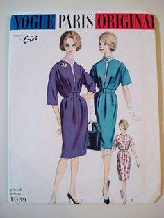 Vogue Paris Original 1039, Designer Gres; Bust 34