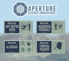Aperture Science 50's posters by =Whatpayne on deviantART