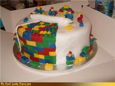 funny food photos - Lego Constructed Cake