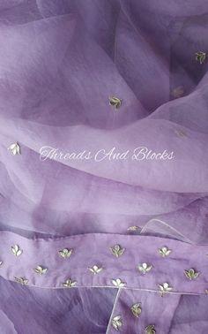 Discover thousands of images about Lilac Organza Saree Organza Saree, Net Saree, Chiffon Saree, Cotton Saree, Silk Sarees, Silk Kurti, Saris, Indian Designer Outfits, Indian Outfits