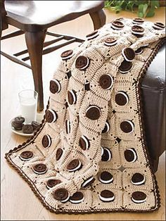 Mouth-Watering Delight. Crochet afghan.