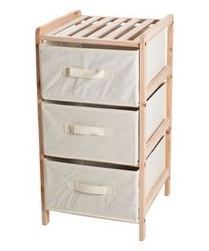 Three Fabric Drawer Wood Shelf on zulily $34.99 PRODUCT DESCRIPTION With three canvas drawers and  sc 1 st  Pinterest & 10 best Maybe / Maybe not images on Pinterest | Shelving Tree ...