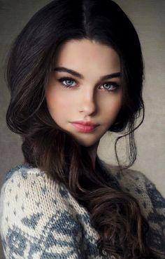 Supply top quality virgin hair hair bundles human hair wigs … - Beauty World Most Beautiful Faces, Beautiful Girl Image, Beautiful Eyes, Gorgeous Women, Beautiful Celebrities, Brunette Beauty, Brunette Girl, Hair Beauty, Woman Face