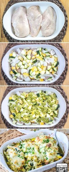 Baked Chicken and Zucchini - Easy Dinner Recipe