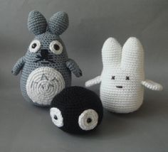 Crochet  Totoro Gang by sabahnur on Etsy, $65.00