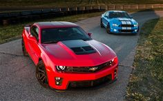 2012 Chevy Camaro ZL1 Vs 2013 Ford Shelby GT500 Parked