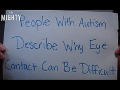 Why Eye Contact Can Be Difficult for People With Autism | The Mighty