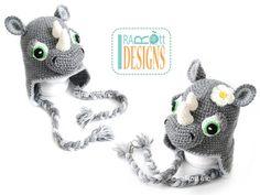Riley Rhino the Rhinoceros Hat PDF Crochet Pattern