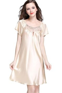 Ladies Nightwear Night Gown Big Shirt Size S-m Cotton/modal Model To Choose Good Companions For Children As Well As Adults Sleepwear & Robes