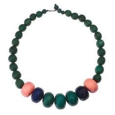 Tagua and Seed Manabi Necklace in Hunter Green - Faire Collection