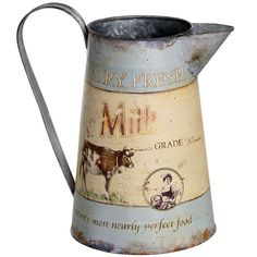 gbp cm on stock Large Dairy Milk Churn Milk Churn, Hill Interiors, Fresh Milk, French Chic, Perfect Food, Interior Accessories, Country Kitchen, Home Goods, Dairy