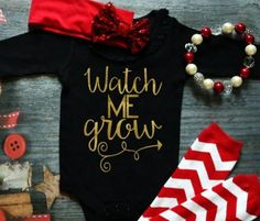 Watch me grow Outfit /Onesie/Baby Outfit /Baby by MyGlitterWorld