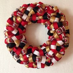 NFL San Francisco 49ers Ribbon Wreath by KJsCraftFactory on Etsy, $40.00