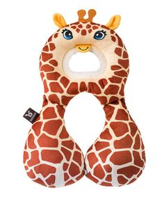 Look what I found on #zulily! Brown Giraffe Travel Friends Toddler Pillow #zulilyfinds