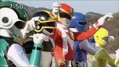 Green flash, Change griphon, Vul Eagle, Blue Mask, Five Yellow - Super Sentai