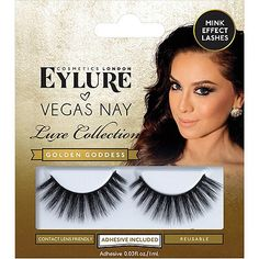 0fa0d2b1961 NO Eylure Vegas Nay Golden Goddess Lashes too fluffy (double layer) Wispy  Lashes,