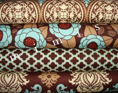 Joel Dewberry  Fabric / Aviary 2 / 4 Fat Quarters in Bark by mimis, $11.20
