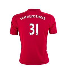 Manchester United 16/17 SCHWEINSTEIGER Youth Home Soccer Jersey     $105.44    Holiday Gift & Stocking Stuffer ideas for the Manchester United FC fan at WorldSoccerShop.com