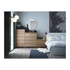 I like this setup, think it would do well under the window. Multiple units could fill the wall corner to toddler bed  OPPLAND 4-drawer chest - oak veneer - IKEA