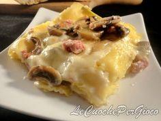 lasagne funghi e