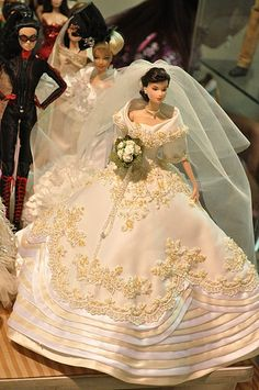 Barbie in Maria Clara wedding gown Barbie Bridal, Barbie Wedding Dress, Wedding Doll, Barbie Dress, Barbie Clothes, Wedding Dresses, Barbie Doll, Barbie Torte, Muñeca Diy