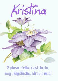 Kristína Splň sa všetko, čo si chcela, maj vždy šťastia, zdravia veľa! Flower Aesthetic, Place Cards, Place Card Holders, Flowers, Plants, Quotes, Quotations, Plant, Royal Icing Flowers