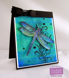 Kendra's Card Company: Spectrum Aqua Markers ~ Coloring Backgrounds and Images Noir Color, Dragonfly Wall Art, Crafters Companion Cards, Bee Cards, Birds And The Bees, Spectrum Noir, Card Companies, Alcohol Markers, Butterfly Cards