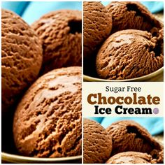 How to Make Homemade Sugar Free Chocolate Ice Cream - Ice cream recipes - # Sugar Free Chocolate Ice Cream Recipe, Low Sugar Ice Cream, Keto Ice Cream, Healthy Ice Cream, Homemade Ice Cream, Ice Cream Recipes, Chocolate Cream, Healthy Chocolate, Chocolate Recipes