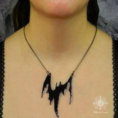 Bat pendants iron gift goth chance jewel