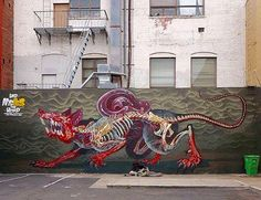 Street Art by Nychos in San Francisco.