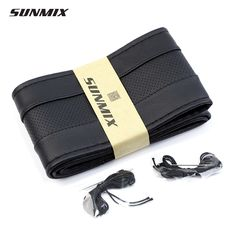 SUNMIX breathable type steering wheel hub breathable sewing steering wheel cover DIY classic steering cover soft braid on wheel *** Details on product can be viewed by clicking the VISIT button
