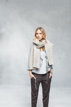 Wrap yourself in airy warmth with a geometric stole inspired by seamen's ganseys. While the original garments were densely knit enough to be nearly waterproof, Ludlow uses two delicate strands of Loft on a large needle for a feather-light fabric and heightened stitch definition. Worked from end to end with basic techniques.