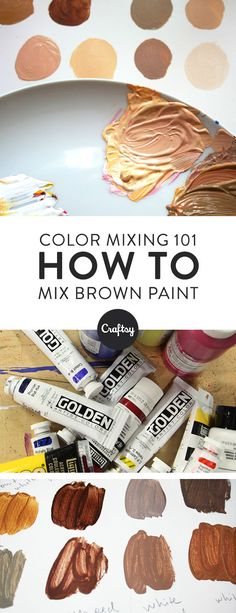 Mixing your own brown paint is extremely easy... as long as you know how to do it right. Follow this foolproof method and you'll have a palette of beautiful browns in no-time.
