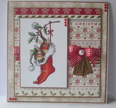 Lili of the Valley Sneak Peek July Returning Friends Release - Christmas Bunnies Stocking